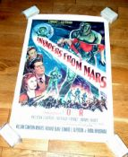 """INVADERS FROM MARS (1953) US One Sheet (27"""" x 41"""") First release original for this Sci-Fi B movie"""