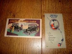 AUTOMOBILIA - A Pair of 1923 postcard sized leaflets for Ford Closed Cars and the Ford Sedan/Coupe -