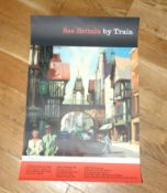 BRITISH RAILWAYS - 'SEE BRITAIN BY TRAIN' (1962) featuring art of Chester - The Eastgate - version