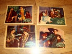 """THE PRINCE AND THE PAUPER (1937) US Lobby Card (11"""" x 14""""). Set of 4. Note: these have been trimmed,"""
