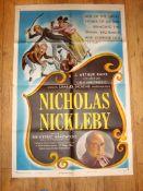 "NICHOLAS NICKLEBY (1948) (Sir Cedric Hardwicke) - US One Sheet (27"" x 41"") . Ealing Films Folded"