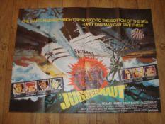 """JUGGERNAUT (1974) UK Quad (30"""" x 40"""") Folded"""