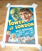 "THE TOWER OF LONDON (1939) US One Sheet (27"" x 41"") Superb Style B art work of Basil 'Sherlock"