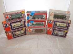 OO Gauge - Lima - A selection of Lima wagons as lotted to include two Unigate tankers (9) (VG-BF/G)
