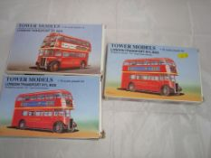 General Toys - A group of unbuilt bus kits by Tower Models. Contents not checked, appear