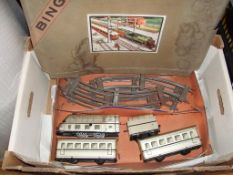O Gauge - Bing - A boxed O gauge clockwork train set by Bing, appears complete. (F-BF)