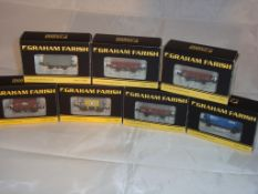 N Gauge - A group of Farish vans and wagons to include powder wagons and ventilated vans in