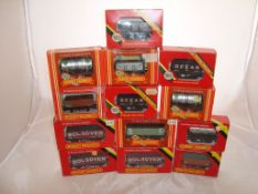 OO Gauge - Hornby Railways - A selection of wagons to include three petrol tankers (13) (VG - BF)