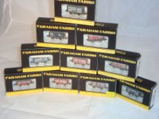 N Gauge - A group of Farish plank wagons in various liveries as lotted (10) (NM-BVG)
