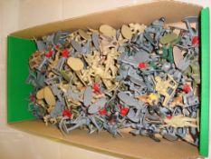 General Toys - A large selection of plastic soldiers by Airfix and others mostly unpainted (Q) (G/