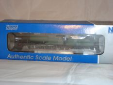 An N Gauge 2884 Class 2-8-0 Steam Locomotive by Dapol in GWR Unlined Green with Shirtbutton
