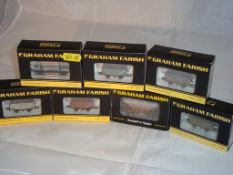 N Gauge - A group of Farish wagons to include mainly mineral wagons in various BR liveries (7) (NM-