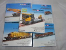 HO Gauge - A group of unbuilt Kibri kits - 16000, 16100, 16150 and 2 x 16202 contents not checked,