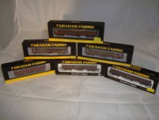 A group of N Gauge coaches by Farish - to include MK1 Full Brake and Stanier coaches - mostly in
