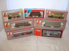 OO Gauge - Lima - A selection of Lima wagons as lotted to include a bogie Esso petrol tanker (7) (