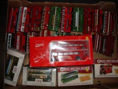 General Diecast - A large quantity of boxed and unboxed buses by EFE, Atlas Great British Buses
