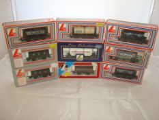 OO Gauge - Lima - A selection of Lima wagons as lotted to include a private owner's Harrods plank