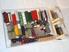 N Gauge - A selection of unboxed vehicles (mostly Oxford Diecast) together with two boxed Oxford