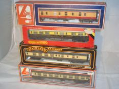 OO Gauge - A group of passenger coaches by Lima, Mainline and Hornby (4) (G/VG - BG)