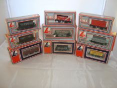 OO Gauge - Lima - A selection of Lima wagons as lotted to include a private owner's Buxton plank