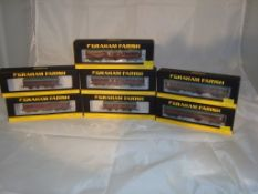 A group of N Gauge coaches by Farish - to include MK1 Full Brake and CCT coaches - mostly in BR