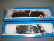 A pair of Airfix steam locomotives to include a Class 4F and a Prairie Tank - Fair to Good, Good