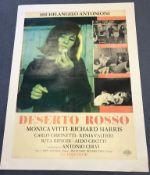"""DESERTO ROSSO - 'RED DESERT' (1964) - 26.75"""" x 36.5"""" (68 x 93) - Large Italian Photobusta -"""