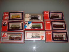 A group of boxed Lima wagons as lotted - Good, Fair to Good boxes (9)