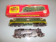 A pair of Hornby Dublo locomotives to inlcude a boxed Deltic (some evidence of repainting) and an