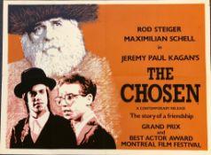 "THE CHOSEN (1981) - 30"" x 40"" (76 x 101.5 cm) - UK Quad Film Poster - Silk screen print litho finish"