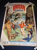 """VARAN THE UNBELIEVABLE (1962) - US 60"""" x 40X - Rolled. Good"""