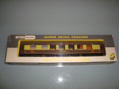 A Wrenn W6002A Pullman coach in Brown/Cream livery named Audrey - with white tables - Very Good,