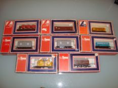 A group of boxed Lima wagons as lotted - Good, Fair to Good boxes (8)