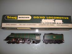 A Wrenn W2211 Class A4 steam locomotive in BR Green named 'Mallard' - Very Good, Good box - vendor