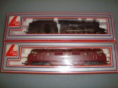 A pair of Lima locomotives to include a Warship and an Ivatt steam locomotive as lotted - Good, Fair