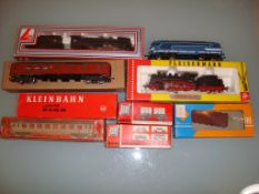 A quantity of HO Gauge locos and rolling stock by Fleischmann, Lima, Jouef, Roco and Kleinbahn as