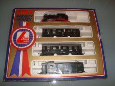 A Lima German Branch Line German passenger train set - steam tank locomotive and three passenger