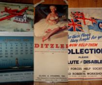 AUTOMOTIVE CALENDARS AND PRINTS (1950S) - A group