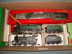 A pair of renumbered/repainted/detailed Hornby Southern Railway locos as lotted - Fair to Good,