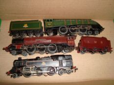 A group of 3 unboxed 3-rail Hornby Dublo steam locomotives as lotted - Fair to Good (3)