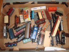 A tray of unboxed wagons by Hornby, Lima etc as lotted - Fair to Good (Q)
