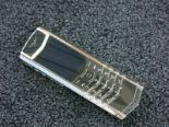 Lot 17 - Vertu Signature S Phone with Diamond Pillow Frame & Polished Stainless. Furnished with Ceramic