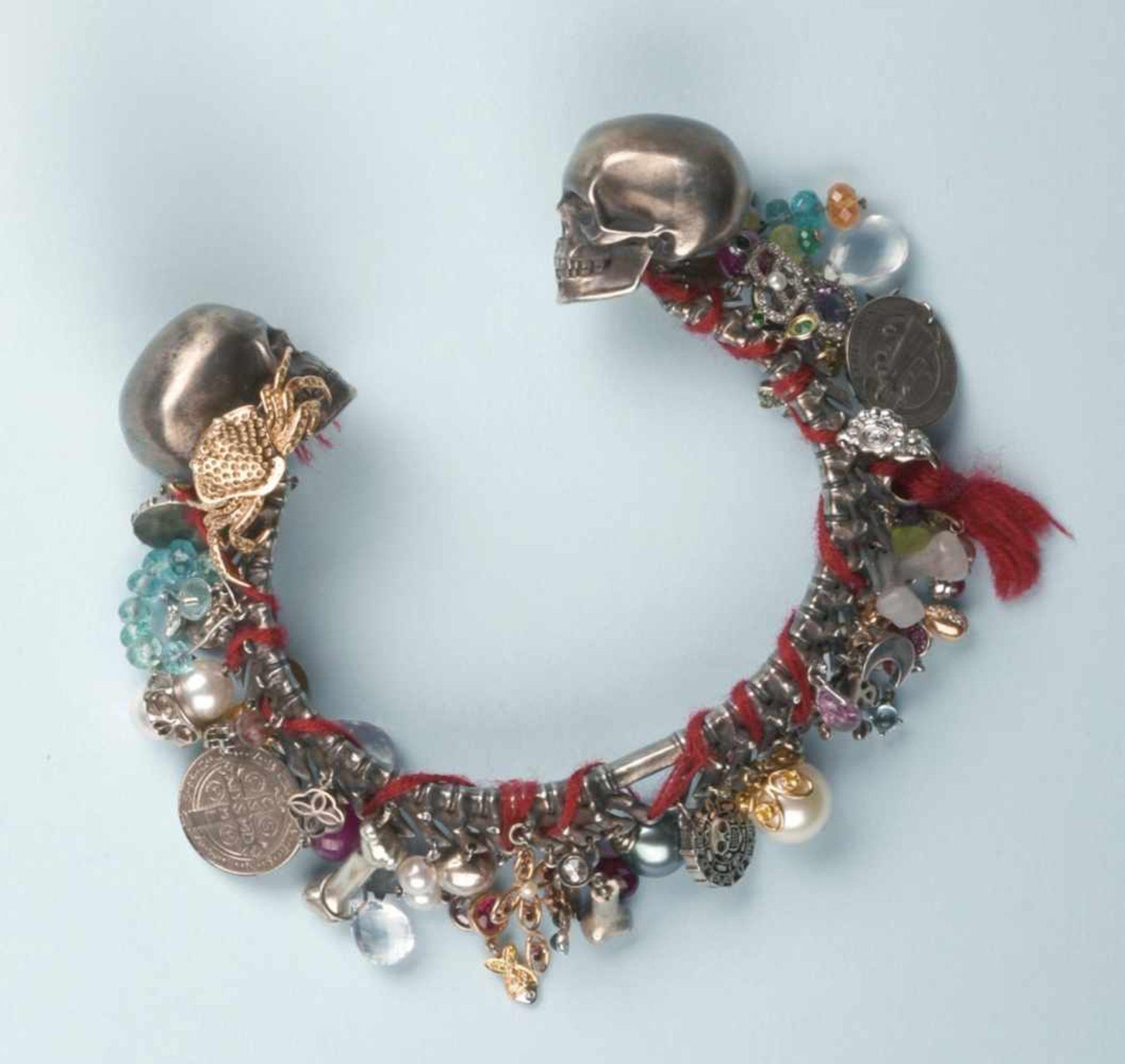"""Étonnant bracelet rigide en argent et or rose 750 signé """"CHOPARD"""". Pièce unique réalisée pour le"""