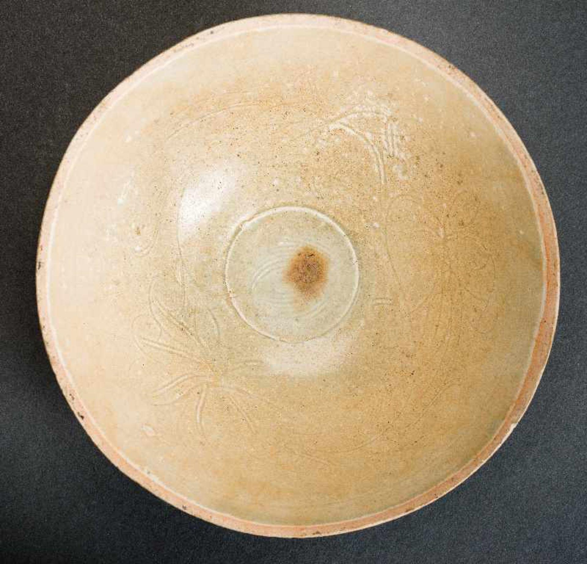 TIEFE SCHALEGlasierte Keramik. China, Song, ca. 12. bis 13. Jh. Diese trichterförmige tiefe Schale