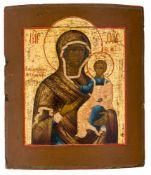 *Gottesmutter von Smolensk Russische Ikone, um 1800 34,5 x 30 cm Provenienz: Bayerische