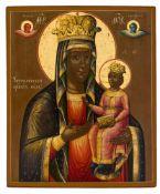 *Gottesmutter von Tschenstochau Russische Ikone, 1. Hälfte 19. Jh. 36 x 30 cm Provenienz: Bayerische