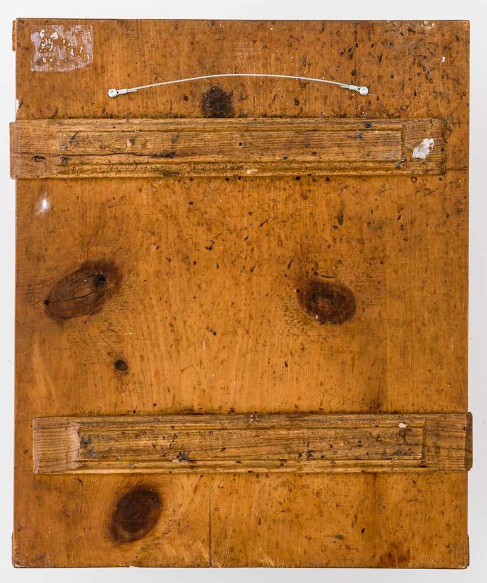 *Gottesmutter Pokrov Russische Ikone, um 1800, mit Silberbasma, Petersburg 1815 Beschaumeister: - Bild 2 aus 4