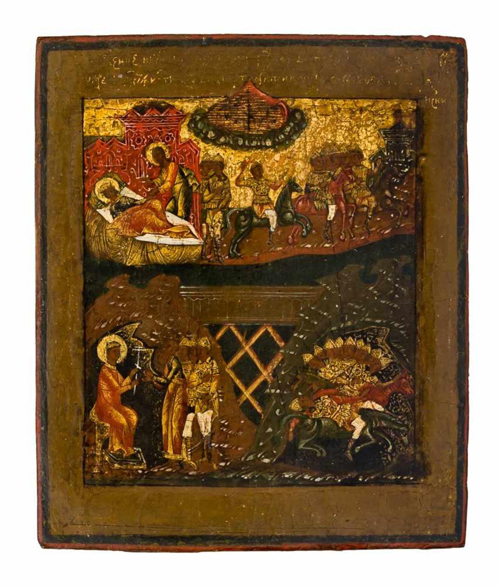 """*""""Eingeborener Sohn, Wort Gottes"""", Kreuzesvision des hl. Konstantin, Gottesmutter Pokrov - Bild 2 aus 5"""