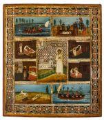 *Hl. Artemij Verkolskij Russische Ikone, letztes Viertel 19. Jh. 35 x 30,5 cm Der Bauernsohn Artemij