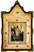 *Auferstehung Jesu Russische Ikone, um 1900 26,5 x 22 cm (Kiot: 60 x 38,5 cm) Provenienz: